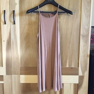 Soft Ribbed A line Tan Swing Dress F21 size M